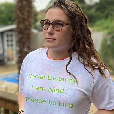 Social Distance I Am Blind, PLease Be Kind t-shirt